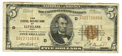 Cleveland Bank Note